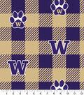 Washington Huskies Fleece Fabric-Buffalo Plaid