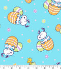 Peanuts Easter Cotton Fabric-Tossed Snoopy with Eggs
