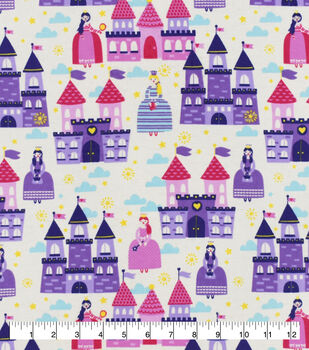 Snuggle Flannel Fabric-Princess Castles