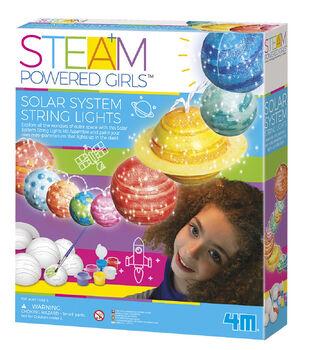 4M STEAM Powered Girls Solar System String Lights Toy