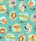 Snuggle Flannel Fabric -Safari Alphabet