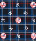 NY Yankees Flannel Fabric 42\u0022-Plaid