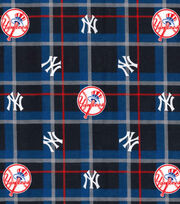 NY Yankees Flannel Fabric-Plaid, , hi-res