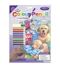 Royal Brush 8-3/4\u0027\u0027x11-3/4\u0027\u0027 Colour Pencil By Number-Wash Day Fun