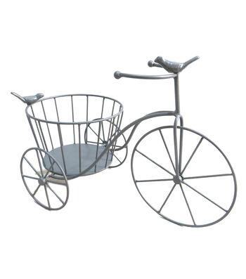 Hello Spring Gardening Bike Plant Stand-Gray