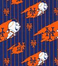 New York Mets Cotton Fabric -Orange & Navy Cooperstown