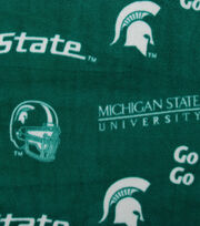 Michigan State University Spartans Fleece Fabric 58''-Green, , hi-res