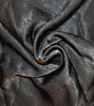 Silky Sanded Satin Fabric -Black