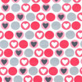 Snuggle Flannel Fabric -Coral Hearts & Dots