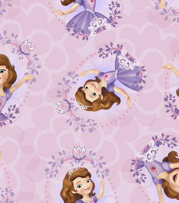 Disney Sofia the First Cotton Fabric 43''-Tossed