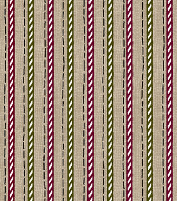 "Christmas Cotton Fabric 43""-Candycane Twine"