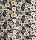 Home Decor Print Fabric 54\u0022-Samuel Ebony Floral & Foliage