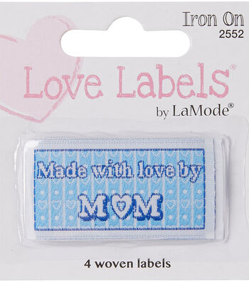 Iron-On Love Labels Made with love by MOM