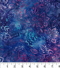 Legacy Studio Batik Cotton Fabric -Floral Purple