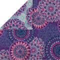 Double Faced Quilt Fabric 42\u0027\u0027-Purple Medallions