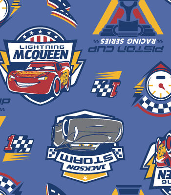 Disney Cars 3 Fleece Fabric -Piston Cup Racing Series