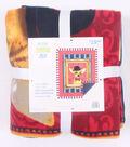 No-Sew Throw Fleece Fabric 48\u0022-Sir Winston Dog Portrait Panel