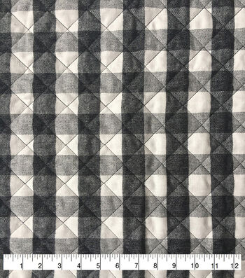 Sportswear Quilted Knit Fabric-White & Black