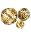 Blue Moon Beads Metal Mops Corrugated Round-30PK/Antique Gold