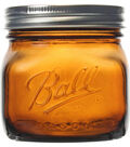 Ball Wide Mouth Canning Jars 4/Pkg-Pint Elite Color Series Amber 16oz