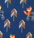 Doodles Cotton Fabric -Fox on Bike