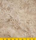David Tutera Embroidered Lace Fabric-Champagne