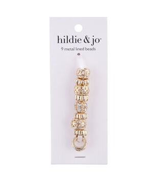 hildie & jo Mix & Mingle Metal Lined Beads-Gold