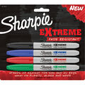 Sharpie Extreme Permanent Makrers 4/Pkg-Black, Blue, Red, Green