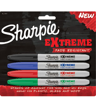 Sharpie Extreme Permanent Makrers 4/Pkg-Black, Blue, Red, Green