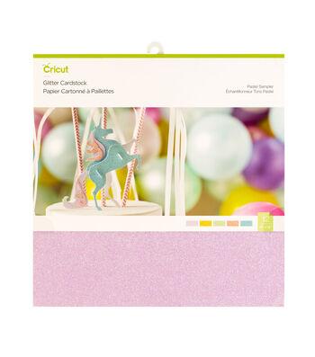 Cricut 10 pk 12''x12'' Glitter Cardstock-Pastels