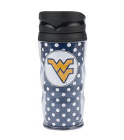 West Virginia University Mountaineers Polka Dot Travel Mug, , hi-res