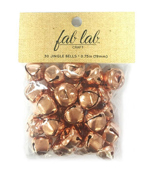 Fab Lab Craft 30 pk 0.75'' Jingle Bells-Copper