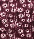 Knit Prints Rayon Spandex Fabric-Burgundy Spinners Tie Dye