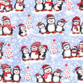 Christmas Cotton Fabric-Winter Penguin Friends Glitter