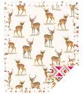 Fleece No Sew Throw-Boho Deer