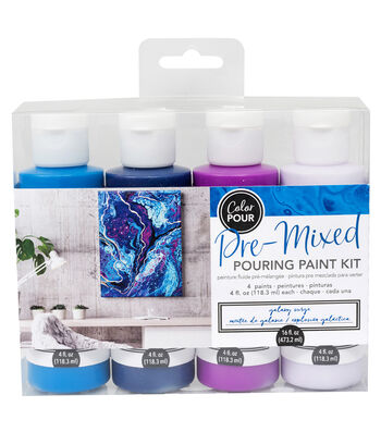 American Crafts Color Pour Pre-Mixed Paint Kit-Galaxy Surge