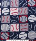 Blizzard Fleece Fabric -Baseball Patch
