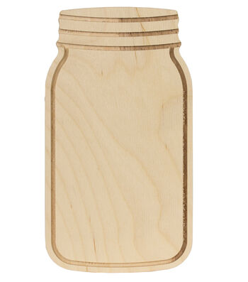 Walnut Hollow Unfinished Wood Surface Mason Jar