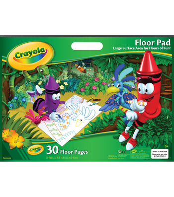 "Crayola Giant Floor Pad 22""X16""-30 Sheets"