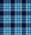Snuggle Flannel Fabric -Hadley Navy & Blue Plaid