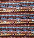 Downtown Collective Crepe Fabric 57\u0022-Multicolor Arrow Stripes