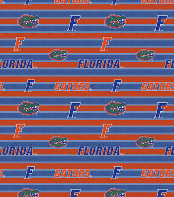 College Teams Florida Gators Cotton Fabric -Polo Stripe