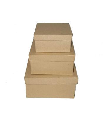 Paper Mache 3 Box Set-Square