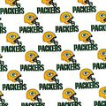 Green Bay Packers Cotton Fabric -White