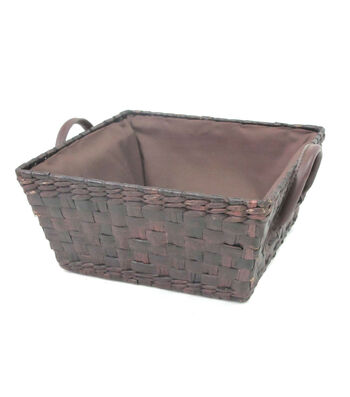 Organizing Essentials Square Stained Rush Basket??
