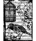 Tim Holtz Cling Rubber Stamp-Birdsong