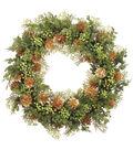 Christmas 24\u0027\u0027 Cedar, Berry & Pinecone Wreath-Green & Gold