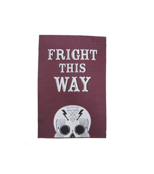 Maker's Halloween 12''x18'' Flag-Fright This Way