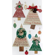Jolee's Boutique Dimensional Stickers Holiday Word Trees, , hi-res