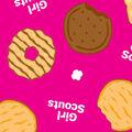 Girl Scout Fleece Fabric -Cookies